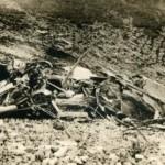 I resti dell'aereo di Dell'Oro